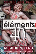 """Émission n°164 : """"Éléments, 40 ans"""""""
